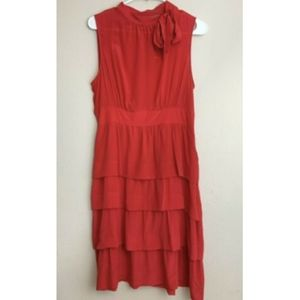 Anthropologie Girls from Savoy Red Dress 8